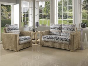 Burford 2 Seater Sofa & Chair with Traditional Back Cushions