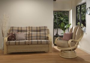 Opera Natural 3 Seater in Highland & Swivel Rocker in Sand