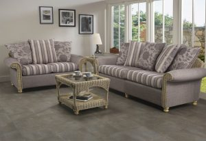 Stamford 3 Seater Sofa & 2 Seater Sofa Scatter Back Cushions in Zara stripe & Combination Backs