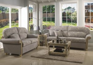 Stamford 3 Seater Sofa & 2 Seater Sofa Traditional Back Cushions in Mayfair Floral